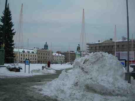 Gustaf Adolfs Torg strax före Kalle Anka. Julafton måndag 24 december 2012 kl 14.51.
