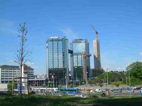 Gothia East Tower, det tredje tornet vid Korsvägen, lägger på sig. Fredag  31 maj 2013 kl 16.59.