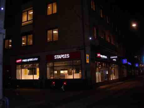 Slutkopierat – Staples stängt. Söndag 20 januari 2013 kl 20.26.