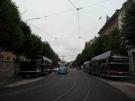 Beat the Street Nightliner utanför Elite Plaza Hotel på Västra Hamngatan. Torsdag 8 augusti 2013 kl 18:57.
