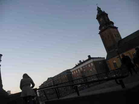 Tyska bron och Tyska kyrkan. Söndag 15 december 2013 kl 15:19.