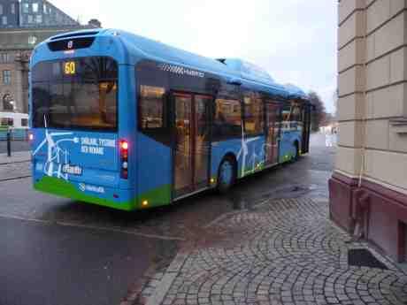 Volvo elektrisk laddhybridbuss 397 på Linje 60 140319