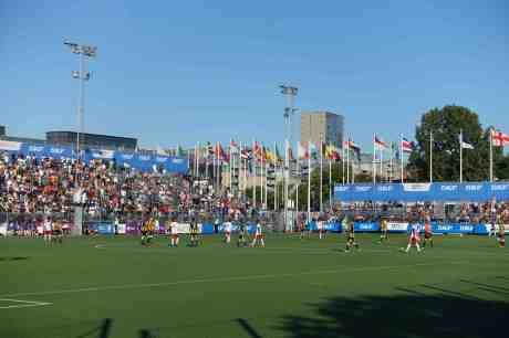 Flagg- och fotbollsprakt från över 70 nationer i Gothia Cup. Heden lördag 19 juli 2014 kl 19:04.