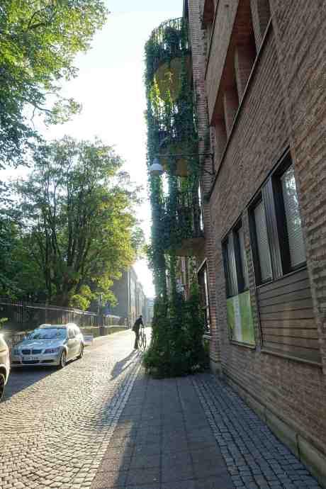 Valdag: För eller emot trängselskatt? Utanför vallokalen i Traktören på Köpmansgatan söndag 14 september 2014 kl 17:51.